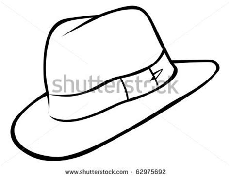 fedora hat coloring page indiana jones clip art free clipart panda free clipart