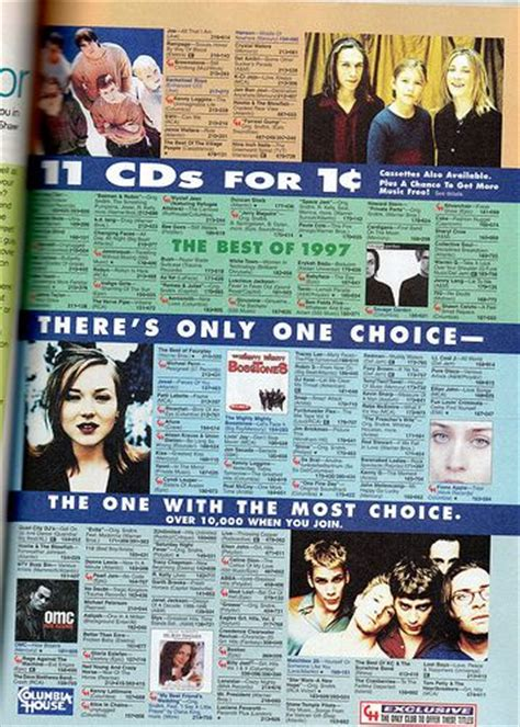 columbia house music cds columbia house seventeen magazine 1998 childhood memories pinterest