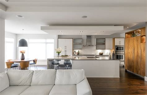 Bulkhead designs ceilings kitchen contemporary with wood floor kitchen design frosted glass
