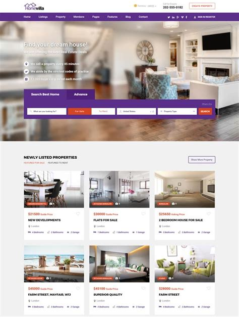 real estate home page design axiomseducation