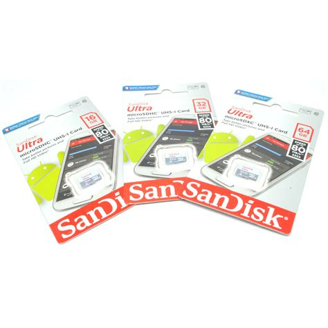 Micro Sd Sandisk Uhs 1 16gb sandisk ultra microsdhc card uhs i class 10 80mb s 16gb