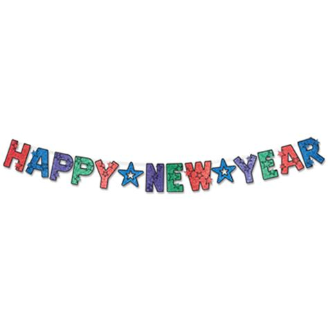 happy new year banner glittered happy new year banner