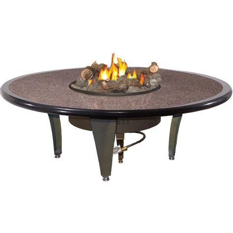Outdoor Table With Firepit Peterson Outdoor Cfyre 54 Inch Propane Gas Manual Safety Pilot Granite Pit Table With