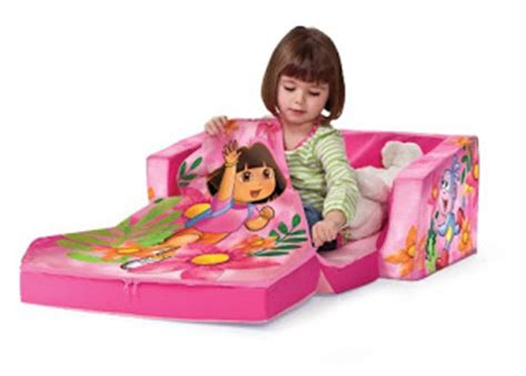 flip open sofa with slumber dora flip open sofa dora the explorer beach day flip out