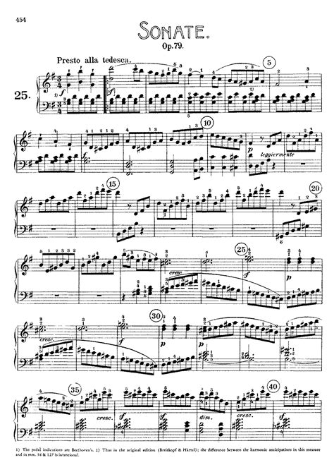sonata section piano sonata no 25 op 79 beethoven ludwig van imslp
