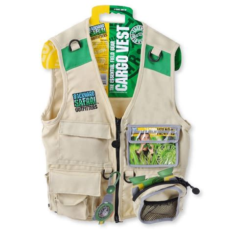 Backyard Safari Kids Explorer Cargo Vest Educational