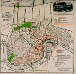 new orleans car route 1904 map of new orleans showing railway system o