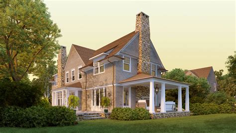 Shingle Style House Plans | deer pond shingle style home plans by david neff architect