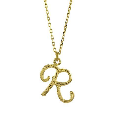 twig l 18ct gold enchanted twig alphabet necklace letter r