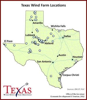 texas wind farms map texas finishing up transmission lines to energy from wind
