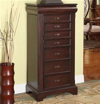 Large Jewelry Armoires by Large Locking Jewelry Armoire Espresso Finish