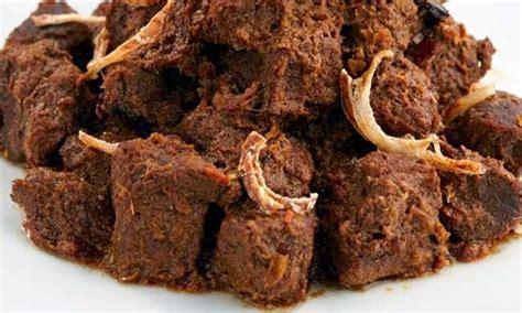 daging rendang padang masakan asli indonesia resep