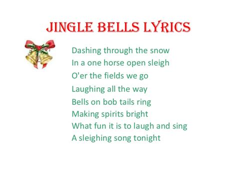 gingol bel testo jingle bells lyrics