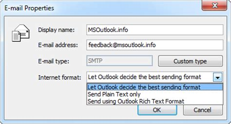 Outlook Email Address Finder E Mail Properties For Contact Addresses In Outlook 2010 Msoutlook Info