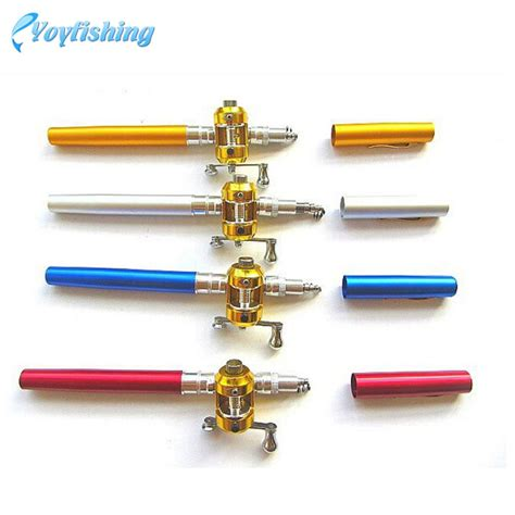 Mini Portable Pen Fishing Rod Length 1 35m With Fishing Kit mini yoyfishing pen fishingrod portable multi color aluminum alloy fishing rod 1 4 m in