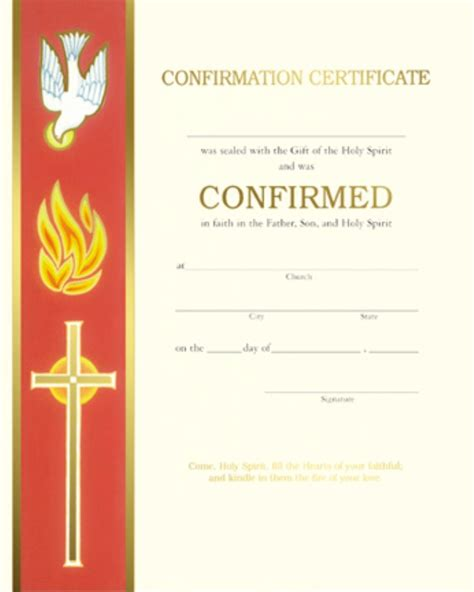 Confirmation Card Template by Confirmation Certificate Xc104 Box Of 50 Banner With