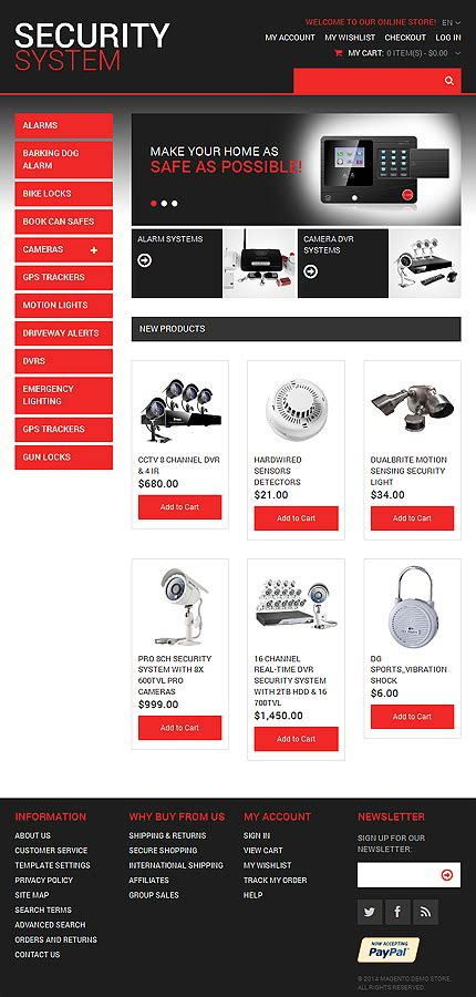 magento theme layout xml kit graphique template 0 security systeme de type magento