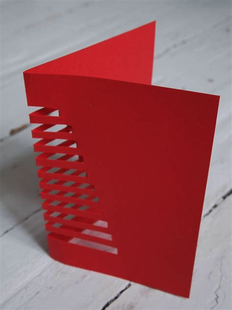 How To Make A Card Out Of Paper - diy cut out cristmas card design and paper