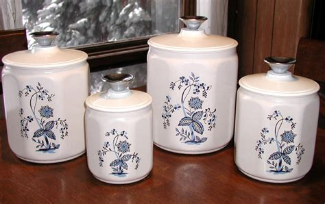 canisters for the kitchen vintage kromex kitchen canisters set of four 4 storage