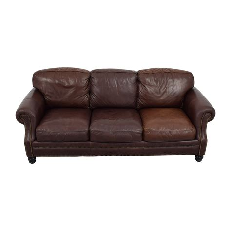 leather sofa with studs lashmaniacs us leather sofa with studs 61 brown leather