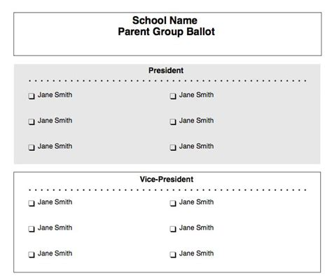 free voting ballot template paper ballots customizable form for free at the