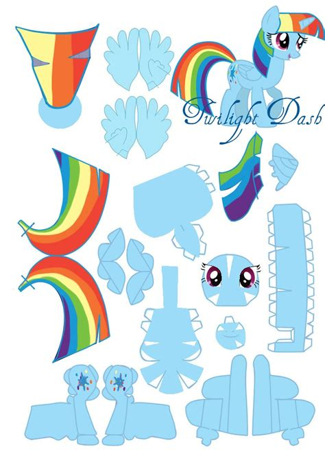 Rainbow Dash Papercraft - twilight dash papercraft by foxigirl1 on deviantart