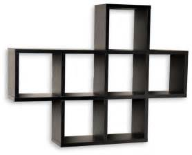 wall shelves unit cubby laminated shelving unit black contemporary