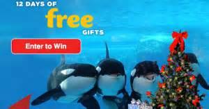 San Diego Sweepstakes - seaworld san diego shamu s 12 days of christmas sweepstakes win a themed christmas