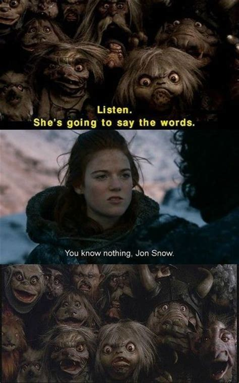 Ygritte Meme - quot you know nothing jon snow quot ygritte internet memes