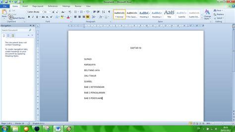 buat daftar gambar word supadi blog cara mudah buat daftar isi