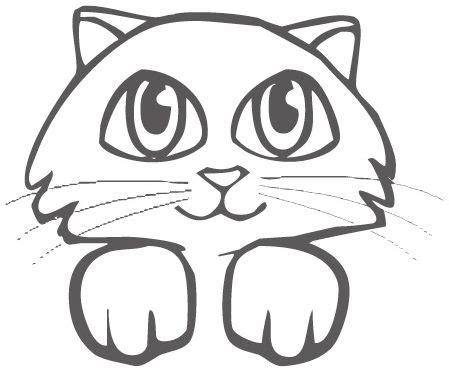 imagenes faciles para dibujar de gatos grandiosa cara de gato para pintar dibujos de gatos