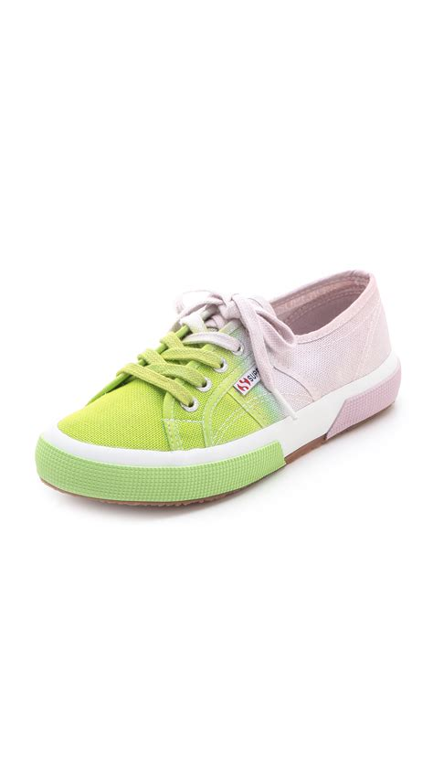 ombre sneakers lyst superga ombre sneakers in pink