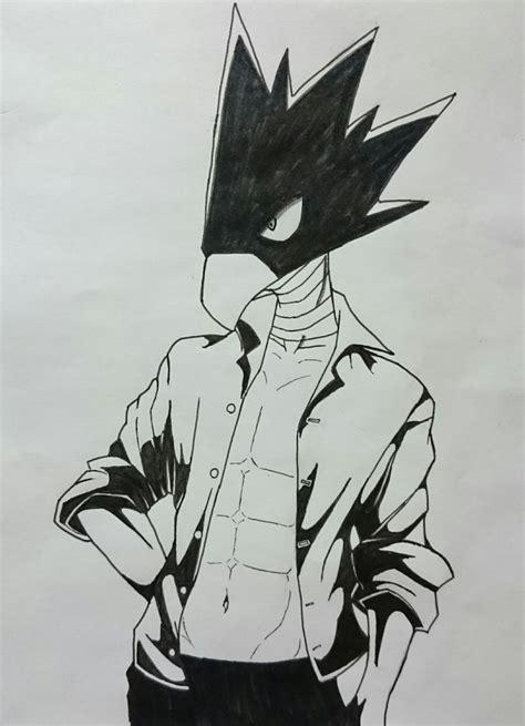 boku no academia fumikage tokoyami dibujo drawing - Buro No Academia