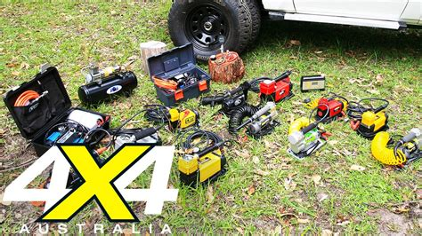 air compressor comparison 12 volt gear 4x4 australia