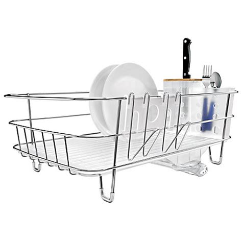 Silver Dish Rack by Simplehuman Slim Dish Rack Silver By Office Depot Officemax