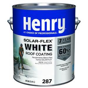 home depot roof coating henry 0 90 gal 287 white solarflex roof coating
