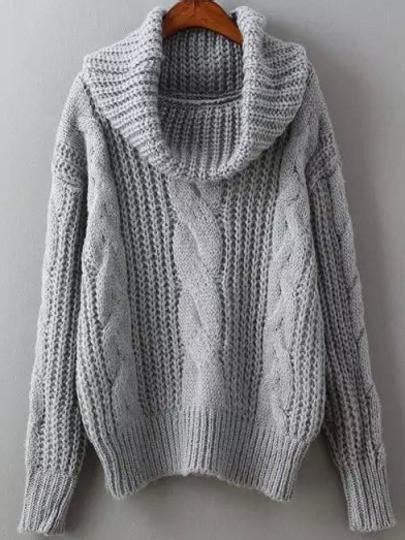 knitting patterns winter sweaters grey cowl neck winter sweater trendy cable knit sweater