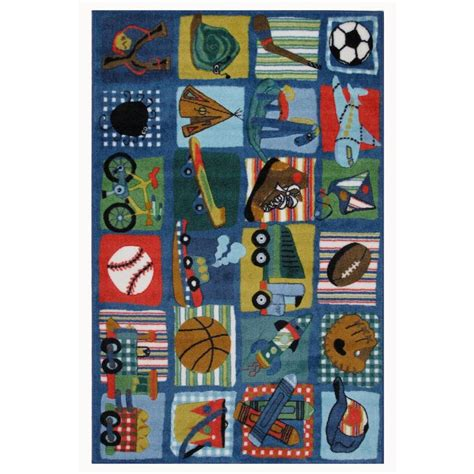 Funky Bathroom Rugs La Rug Supreme Funky Boys Quilt Multi Colored 39 In X 58 In Area Rug Tsc 248 3958 The Home Depot