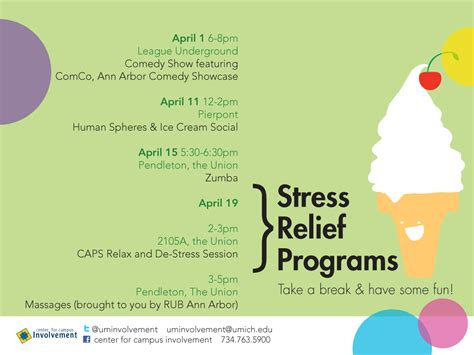 stress relief stress relief programs winter 2013 cus involvement