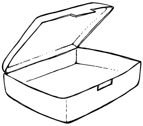 free coloring pages of of lunch box