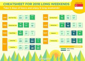 2018 Calendar Philippines With Holidays 9 Weekends In Singapore In 2018 Bonus Calendar