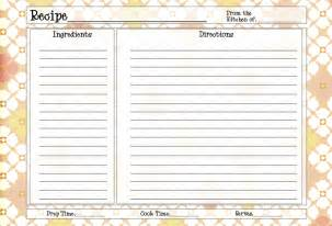 recipe card template 4x6 card maker free xcombear
