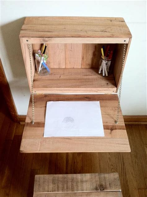Diy Study Desk Diy Pallet Fold Study Desk For Pallet Furniture Diy