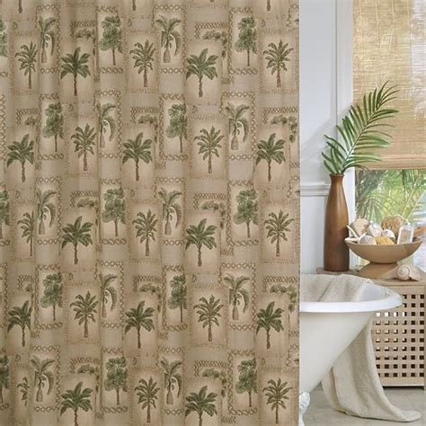 Palm Tree Curtains Drapes Palm Tree Shower Curtain By All Seasons Bedding Http