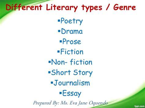 Literary Genre Essay by Literary Genre Comparative Essay