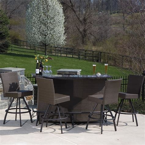 Bar Set Patio Furniture Vento Outdoor Bar And Stools Patio Furniture By Alfresco