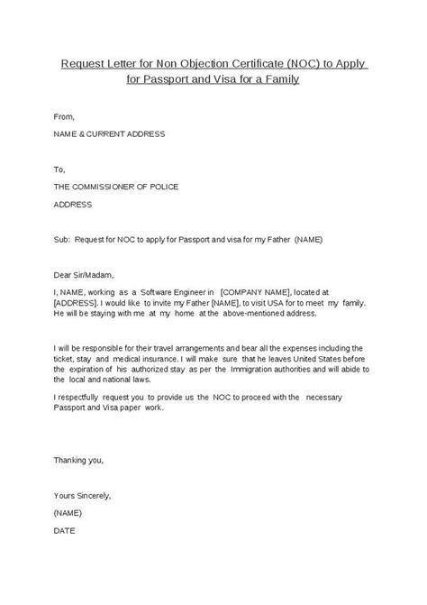no objection letter format for employer letter of