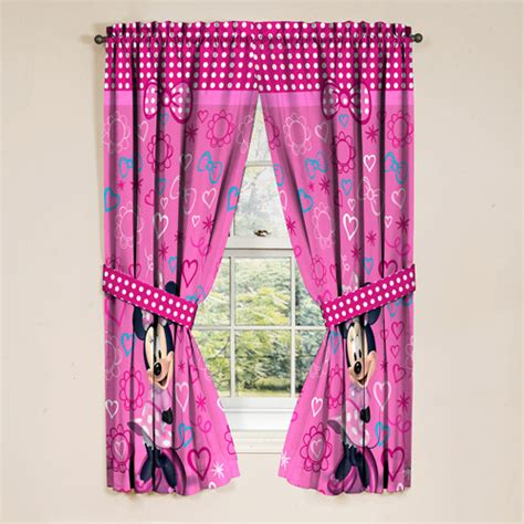 minnie mouse curtains minnie mouse drapes set of 2 walmart com