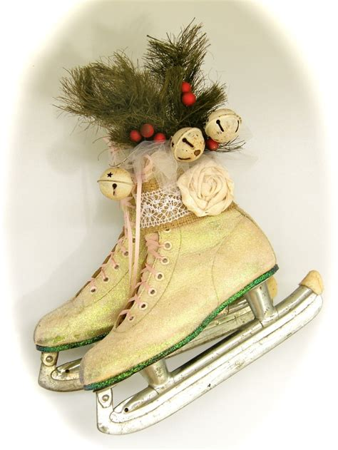 117 best ice skate decor images on pinterest christmas