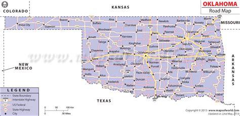 map of oklahoma highways oklahoma counties map with roads swimnova